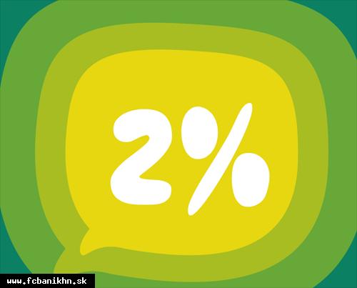 obr: DARUJTE NÁM 2%