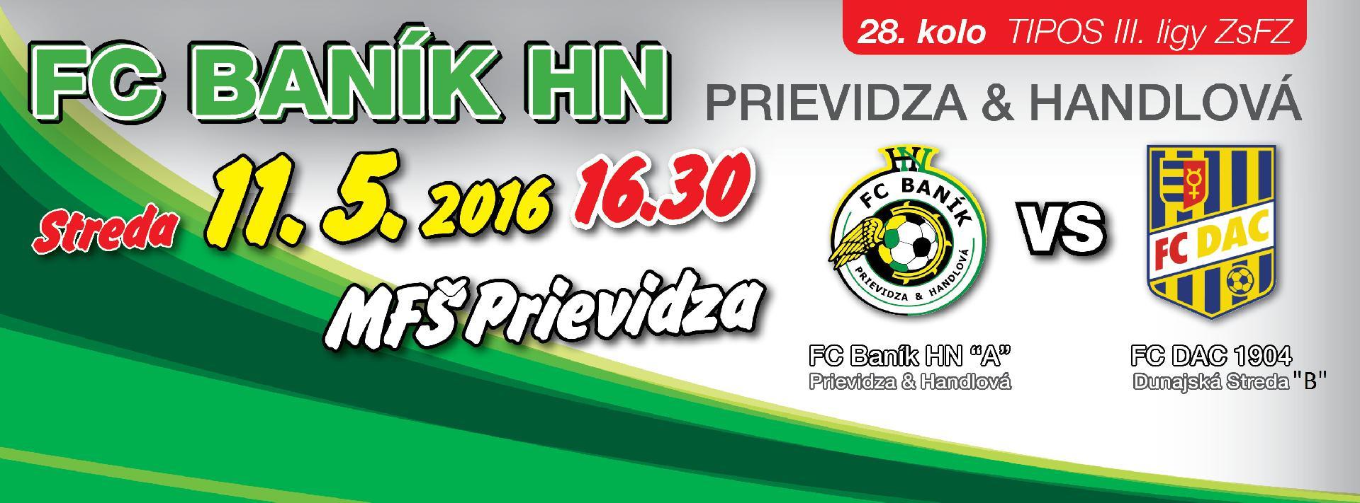 obr: 28. kolo s FC DAC 1904 Dunajská Streda už túto stredu na FŠ Prievidza!