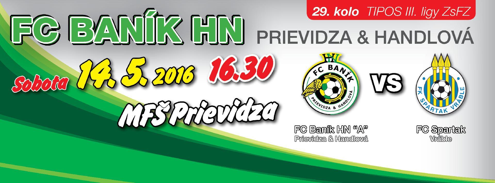 obr: 29. kolo s FK Spartak Vráble už zajtra na FŠ Prievidza!
