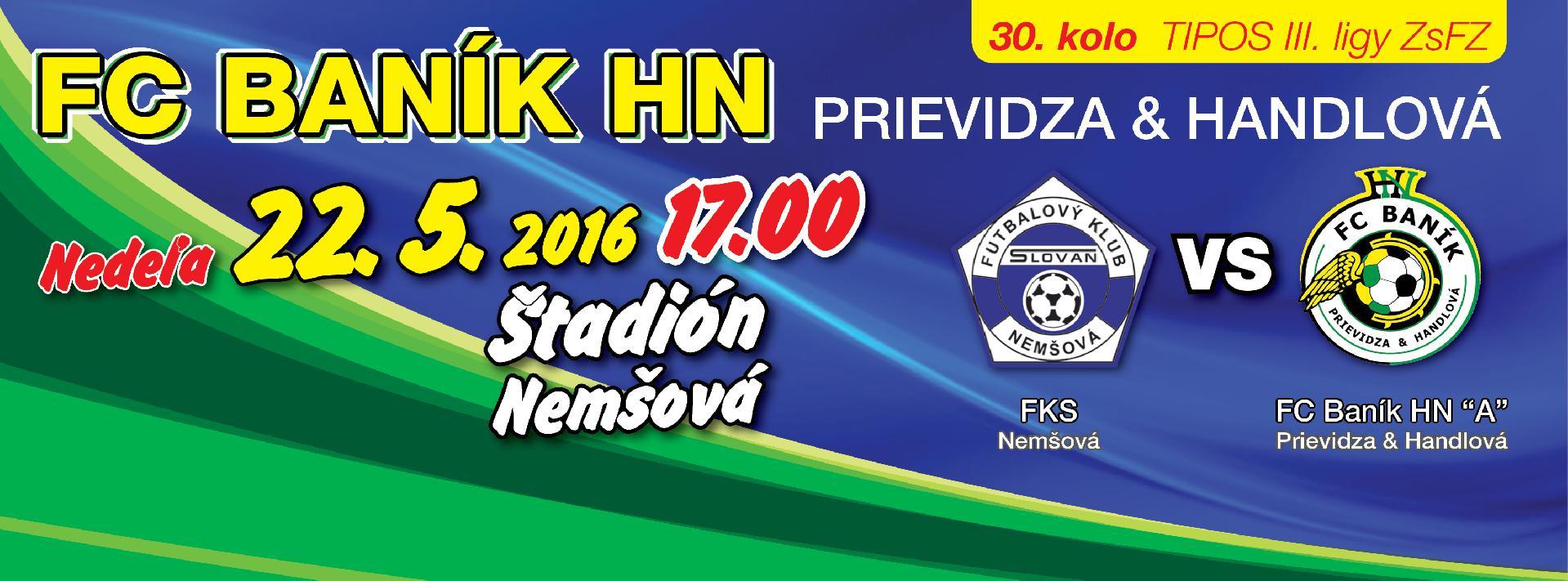 obr: 30. kolo s tímom FKS Nemšová v nedeľu!