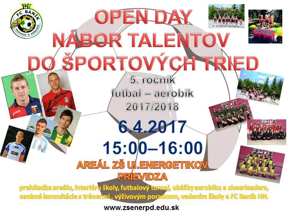 obr: OPEN DAY ZŠ Energetikov - nábor talentov do športových tried