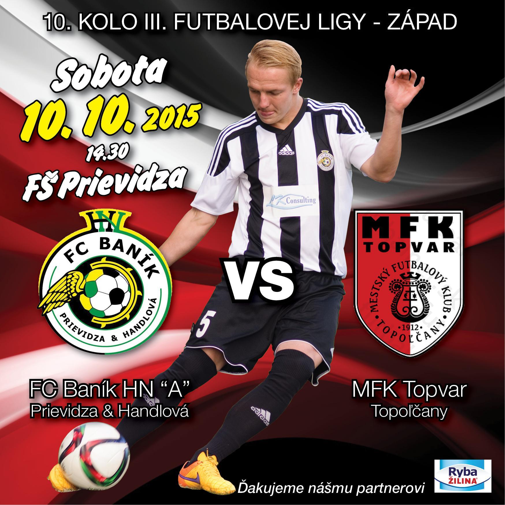 obr: Domáci zápas mužov 10.10. o 14:30