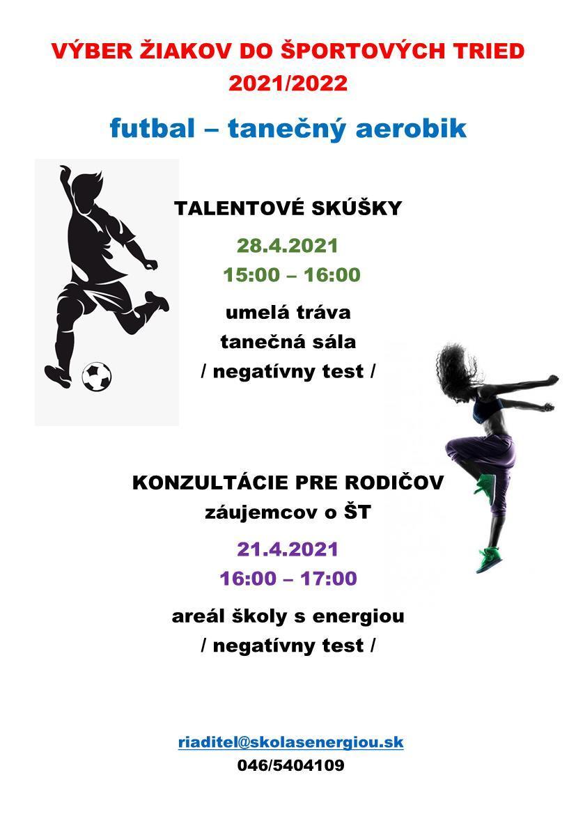 obr: Výber žiakov do športových tried 2021/2022